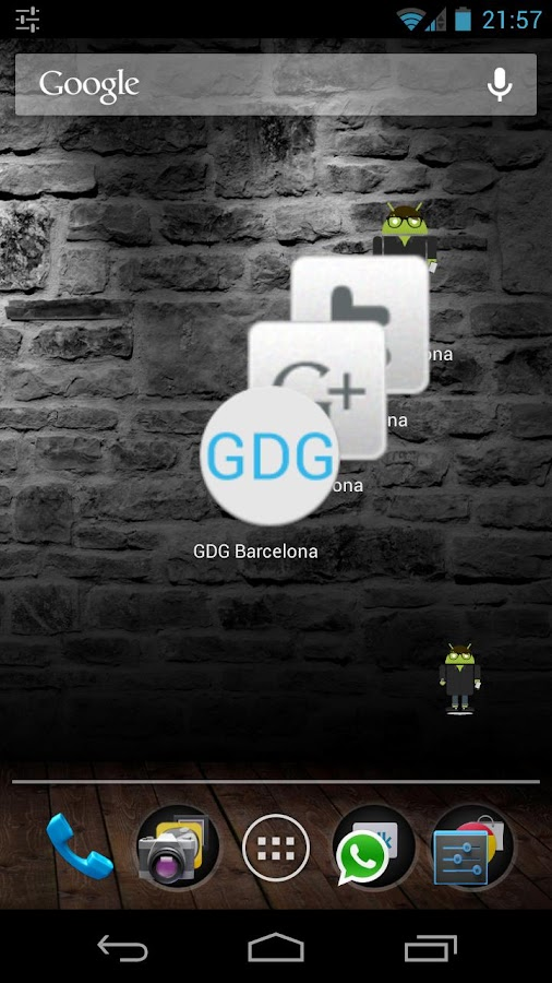 GDG Widgets and Notifications - screenshot