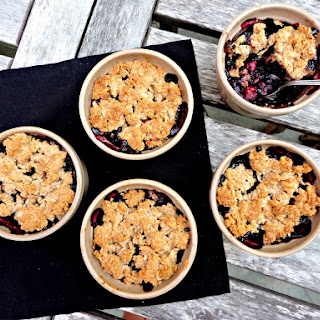 Maple Blueberry Apple Crumble.