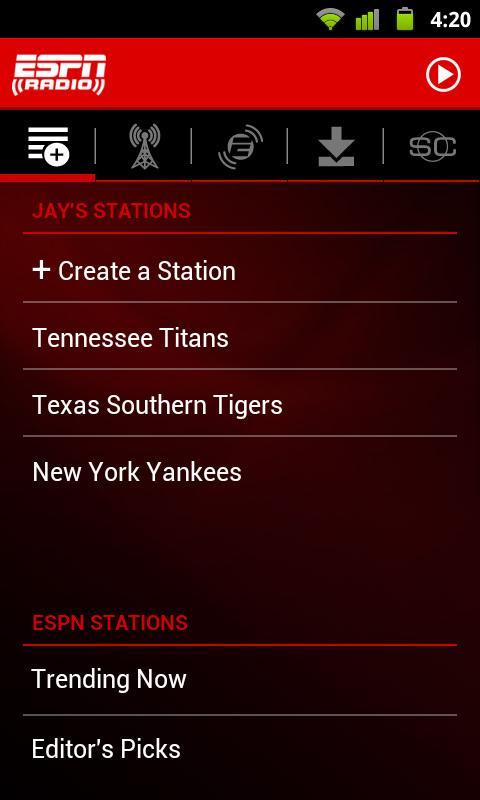 ESPN Radio screenshot #5