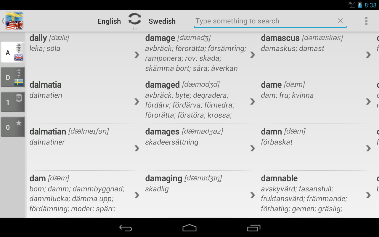 dictionary swedish english android apps on google play. Black Bedroom Furniture Sets. Home Design Ideas