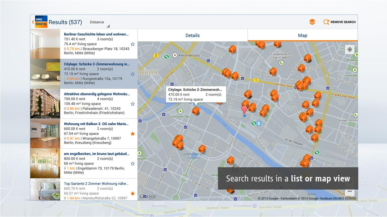 Immobilien Scout24 - screenshot