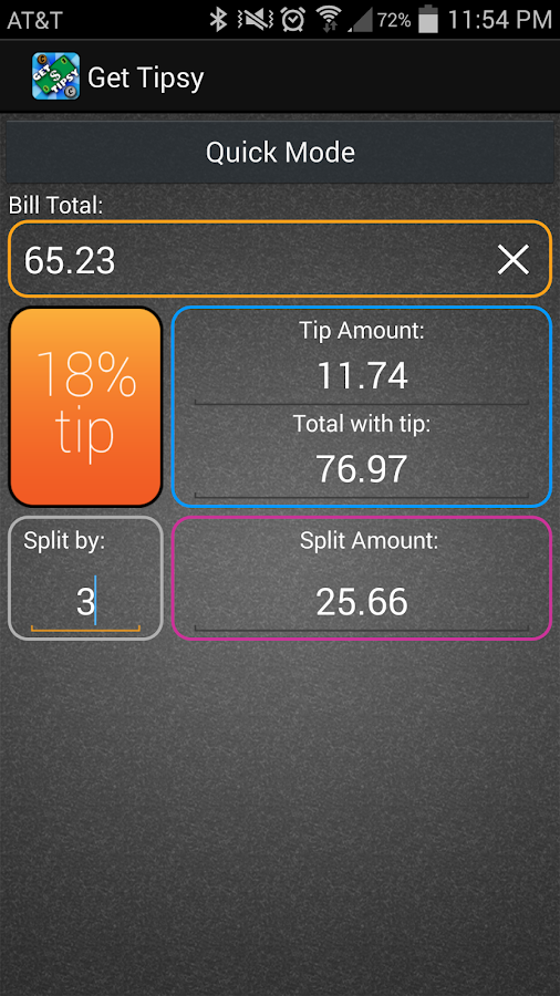 Get Tipsy Tip Calculator- screenshot