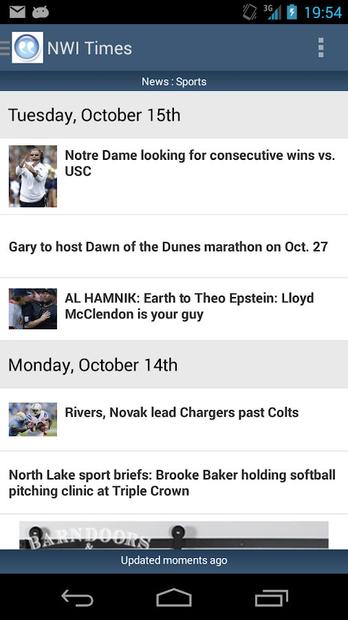 NWI Times - screenshot