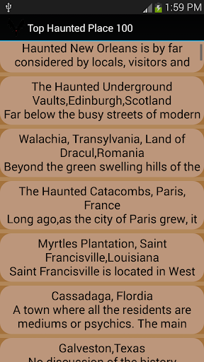 100 Haunted Place