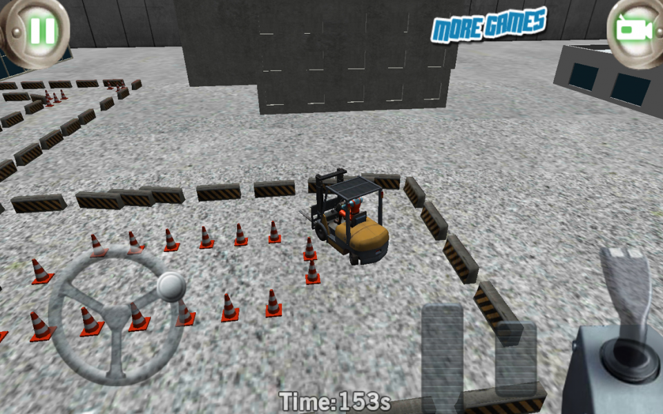 3D forklift parking Madness- screenshot