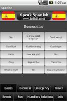 Screenshot of Speak Spanish
