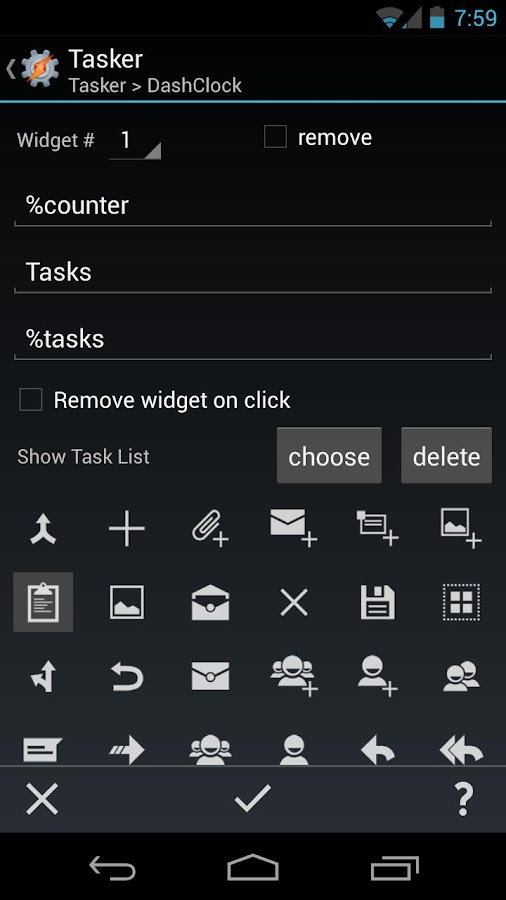 DashClock Tasker Extension- screenshot