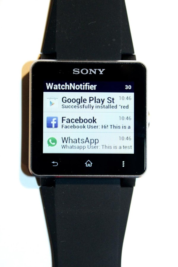 WatchNotifier - screenshot