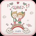 Cutecouple Heart go launcher icon