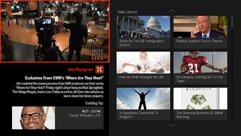 HuffPost Live for Google TV Screenshot 1