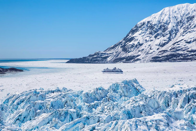 Celebrity Millennium gives you a close-up view of the immense peaks of Hubbard Glacier.