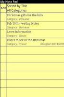 Screenshot of My Note Pad