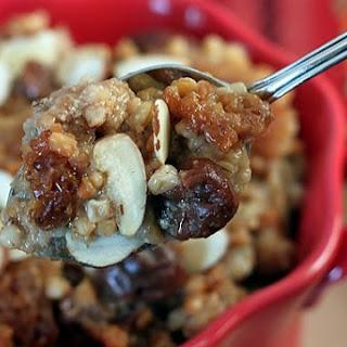 Slow Cooker, Cherry Almond Steel-Cut Oatmeal