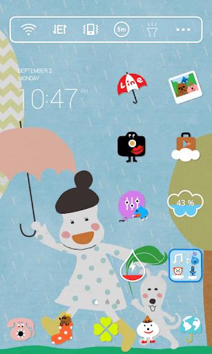Summer Rain Dodol Theme