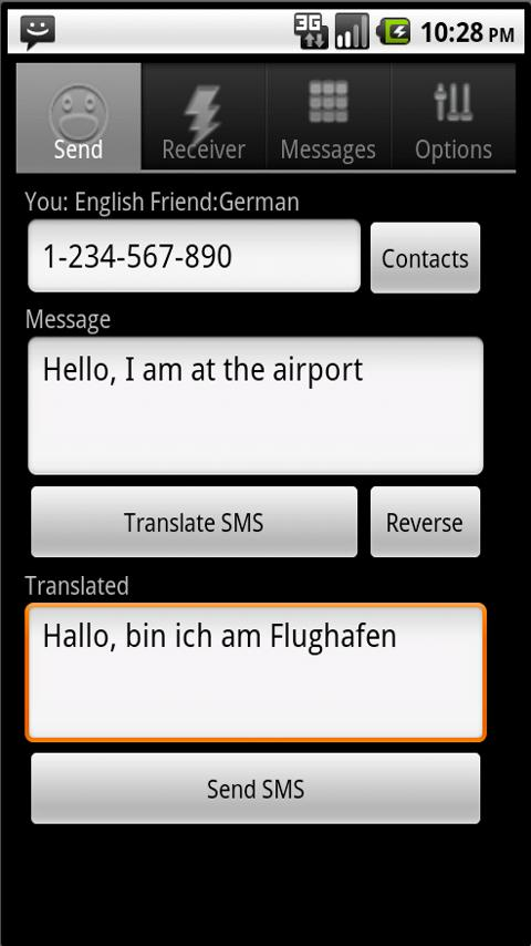 SMS Translator- screenshot