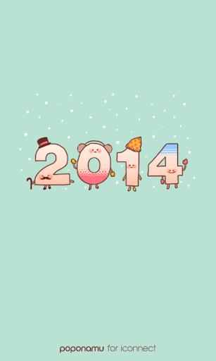 Happy2014 go launcher theme
