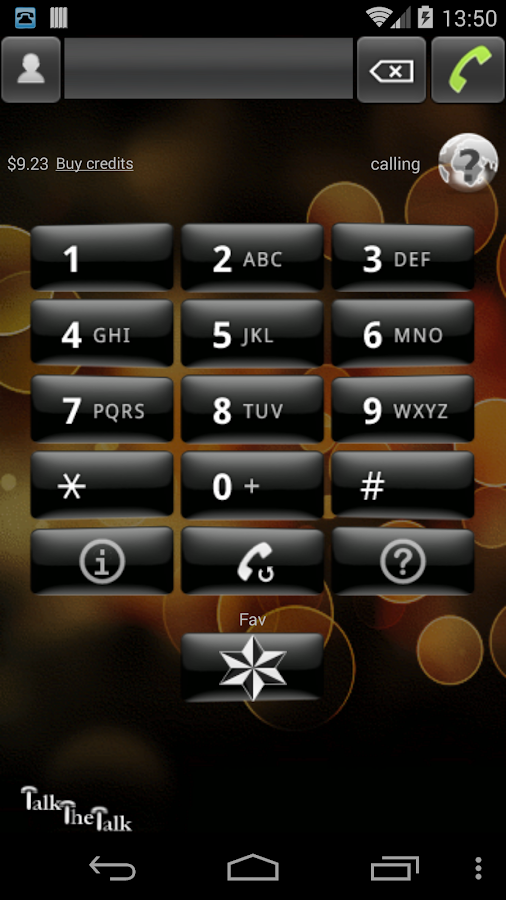 Talk the Talk - Mobile VoIP - screenshot