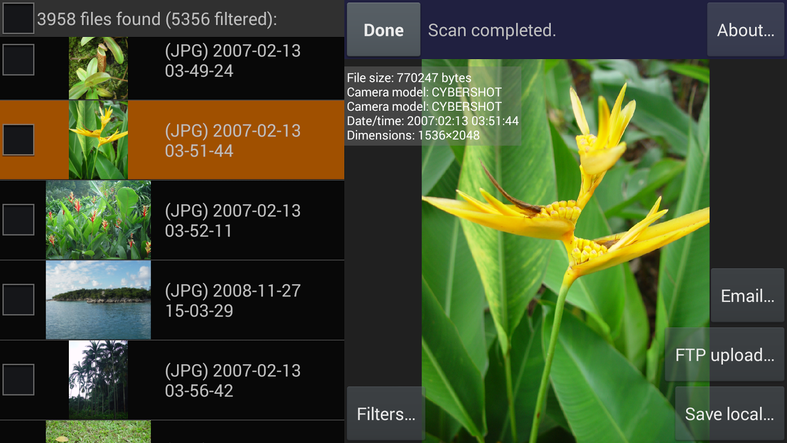 DiskDigger undelete (root) - screenshot