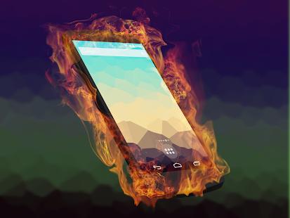 Burn Screen Fire Touch