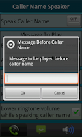 Screenshot of Caller Name Speaker :Announcer