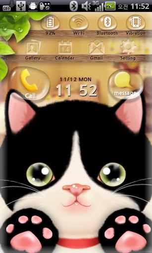 티아 락커 귀여운 고양이 테마