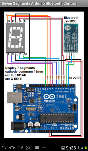 Seven segments arduino bt ctr for android