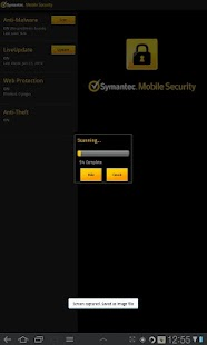 Symantec Mobile Security Agent Screenshot