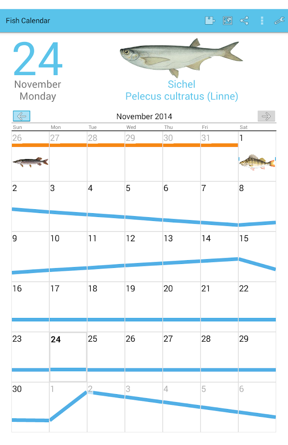 Fish Planet Calendar- screenshot