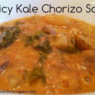 Spicy Kale Chorizo Soup