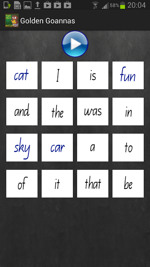 Sight Word Match- screenshot