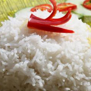 Rice Cooked in Coconut Milk (known as Nasi Lemak).