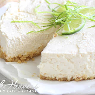 Lime and Greek Yoghurt Cheese Cake with Macadamia & White Choc Cookie Crust (phew).