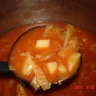 Cabbage Borscht Mennonite Soup.