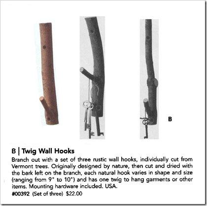 twig wall hooks