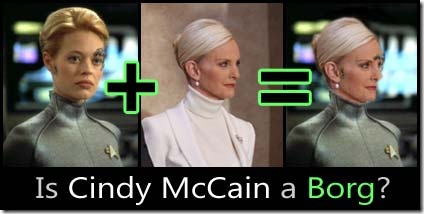 Is Cindy McCain a Borg?