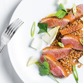 Seared Duck Breast with Wheat Berries and Endive