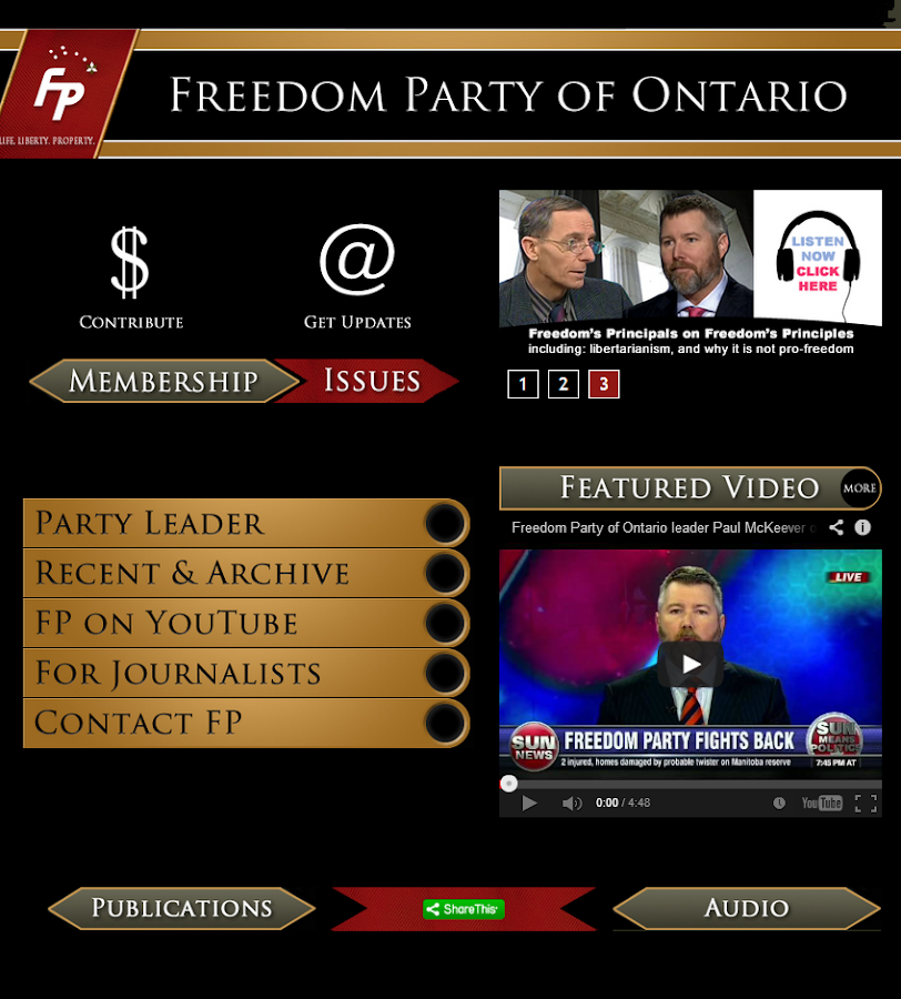 Freedom Party of Ontario - screenshot