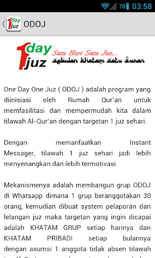 One Day One Juz ODOJ