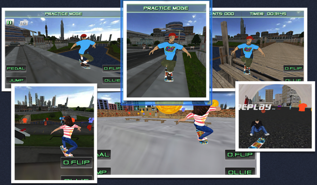 Skate Board 3D Skating Games - screenshot