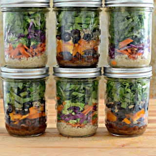 South of the Border Salad in a Jar.
