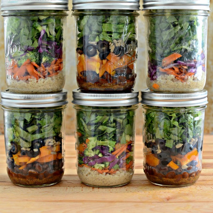 South of the Border Salad in a Jar Recipe