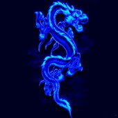 3D blue Dragon 1