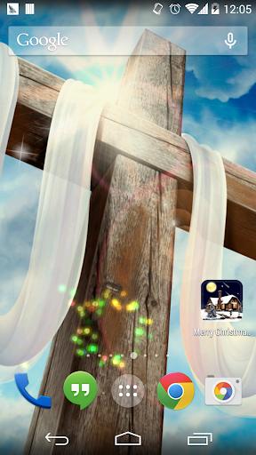 上帝和十字架壁纸