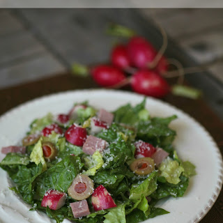 Spanish Salad with Ham and Olives.