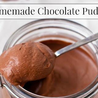 Homemade Chocolate Pudding.