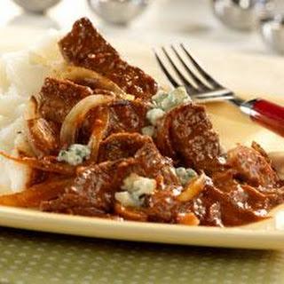 Steak with Tomato Gorgonzola Sauce