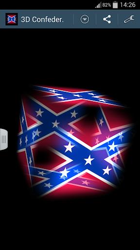 3D Confederate States Flag