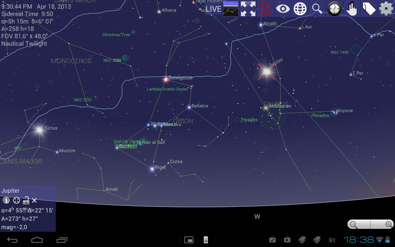Mobile Observatory - Astronomy - screenshot