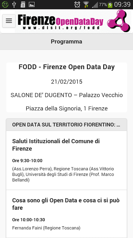 Firenze Open Data Day 2015 - screenshot