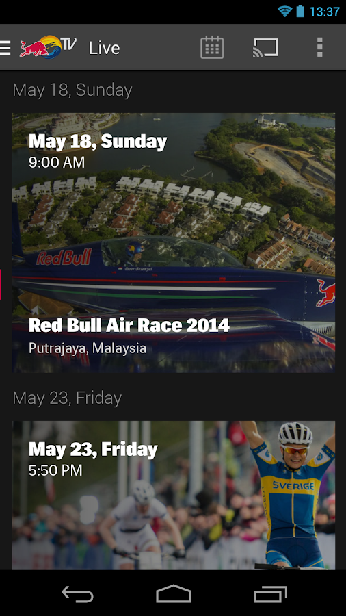 Red Bull TV - screenshot